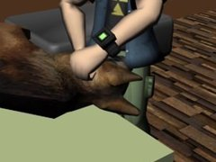 DOG GETS FUCKED BY JOHNNY TEST