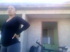 rica mujer en leggins