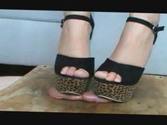 Cock Crush Gaga Heels Cumshot