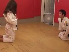 Female Judo submission wrestling