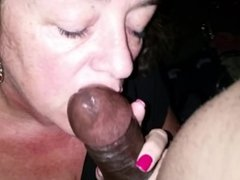 Mature Clerk gives great Blowjob