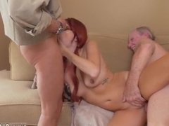 Asian amateur fucked hard So he sent her straight over to Grandpa