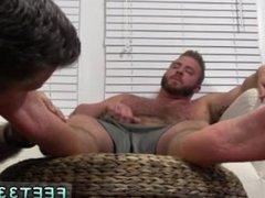 Pics of black cock cumming on guys feet gay Aaron Bruiser Lets Me Worship