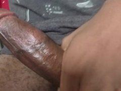 Playing with my bbc morning wood