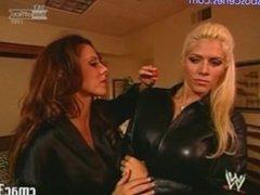 WWE Tori Wilson And Dawn Marie Lesbian Scene