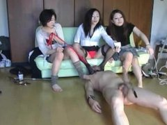 Japanese Students Humiliating Teacher for Pocketmoney and Grades (Femdom)