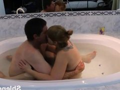 Old mature granny couple homemade sex in jacuzzi. Homemade