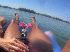 Blowjob on the lake