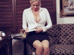 Big Tit Business Woman Takes A Masturbation Break