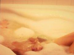 Pleasuring myself in the bathtub