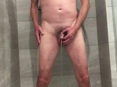 Having a piss in the shower