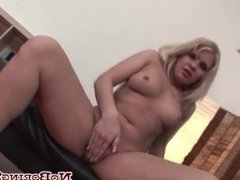 Blonde Patricia Takes Out Her Big Dildo