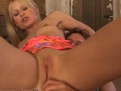 Ebony sloppy head cum and stepdad cums inside her Horse railing school