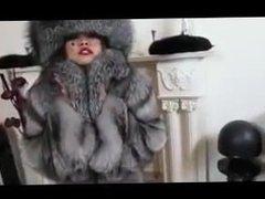 Fur mistress loves fur against her soft pussy