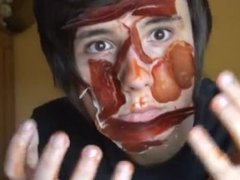 HOT EMO BOY GETS A FACE FULL OF MEAT