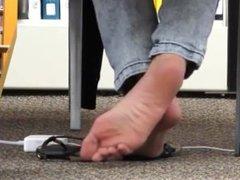 Library Teasing Feet