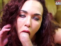 Amateur redhead takes a facial in porn casting hope
