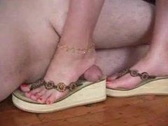 Foot Slave Fucks Mistress's Feet