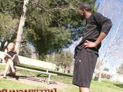 Emma gets picked up in the park,and gets fucked hard with a big black cock!