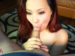 Asian girl fucked POV at casting for BrandNewAmateurs