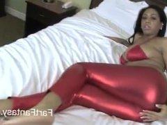Katt Garcia Red Spandex