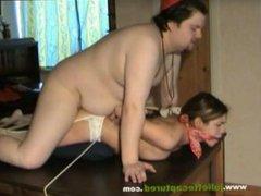 fat man fucks tied girl