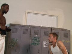 Gym buddy plays with himself while worshipping his friends jock strap
