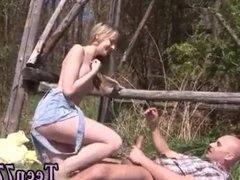 Blacked blonde squirt first time Abby blowing schlong outdoor