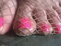 GODDESS GRAZI fishnet feet
