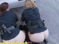 Slutty Milf Cops Sucking Suspect With Big Black Cock