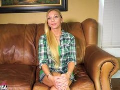 BrandNewAmateurs Montana masturbates on casting couch