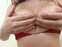 Freckled redhead beauty loves getting anal drilled
