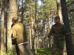 Grown Scouts Spanking Outdoors