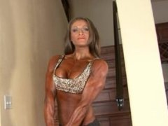 fit babe flexing