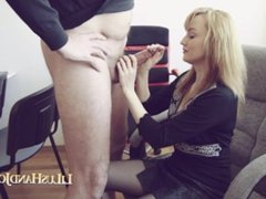 Lilu – Office Stranger HandJob 9 and Cum on my Tongue