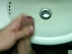 Jerking and cumming in the airplane toilet