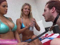 TMG-Goddesses Cindi and Carmela spitting humiliation