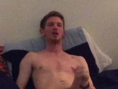 20 Year Old Wanks Hard In Bed