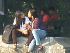 Indian Lesbian kissing in public