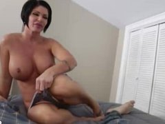 Horny mature lady handjob