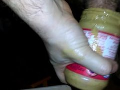 Part 2 me fucking peanut butter and cumming in it