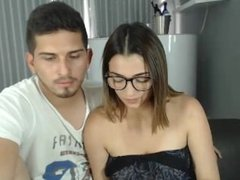 Sexy Colombian married couple fucking on webcam