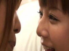 japanese lesbian tender kiss #3