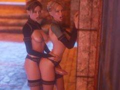 Twin Sisters (Night Walk) - 3D Futanari Full HD