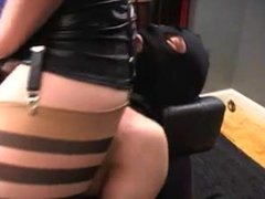 domina fucks slave chest
