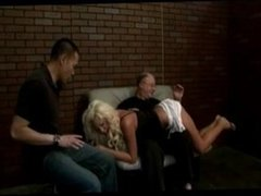 American blond spanked and fucked