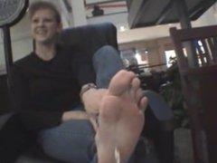Big Feet Blonde Mature Soles