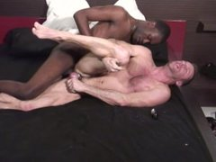 DILF craves a big black dick to dump a creampie in his ass