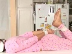 Tori Black Bound and Gagged in Pajamas 2