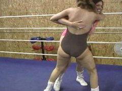 women wrestling leather and lace
